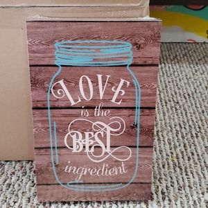 """New Adorable """"Love is the best ingredient"""" Sign."""